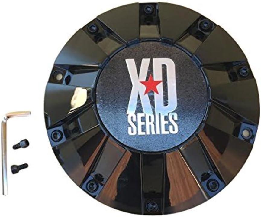 KMC XD SERIES 806 BOMB 451L215-B001 MB452S 451L215 LG1108-11 Black Center Cap