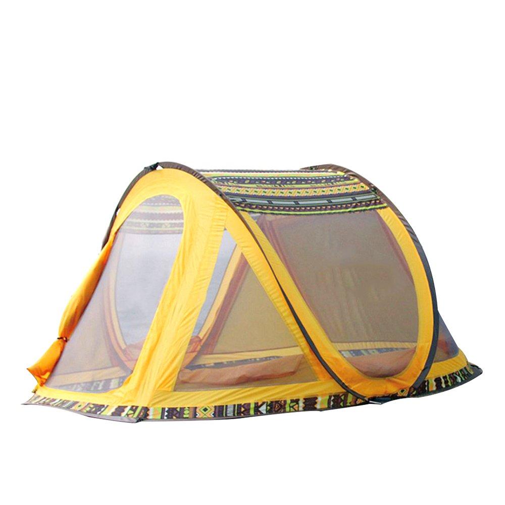 TESITE Zelt 3-4 Personen Dicke Automatische Regendichte Outdoor Camping Schuppen (Gelb 265  220  125) B07NN6XX4S Tunnelzelte Schön und charmant