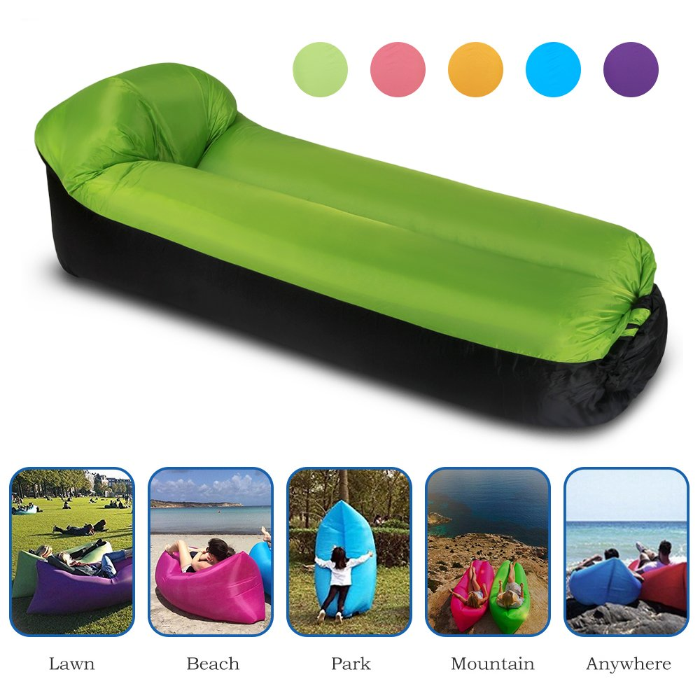 PORTAL Inflatable Lounger Camping Beach Backyard Parties Park Portable Air Beds Sleeping Sofa Couch for Travelling