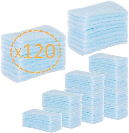 120 ESPONJAS Jabonosas Desechables bebes, niños y adultos - 120 Unidades - Esponja Bebe Piel Sensible - Esponjas Baño con Jabón ph neutro - Pack 5 paquetes de 24 esponjas Annote: Amazon.es: Belleza