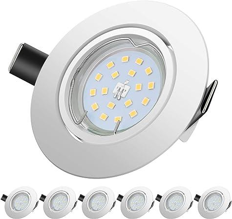 Foco Empotrable | LED Luz de Techo 5W Equivalente a Incandescente 60W | Blanco Cálido 2700K