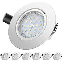 Sunpion Foco Empotrable   LED Luz de Techo 5W Equivalente a Incandescente 60W   Blanco neutro 4500K 600Lm   de techo de…