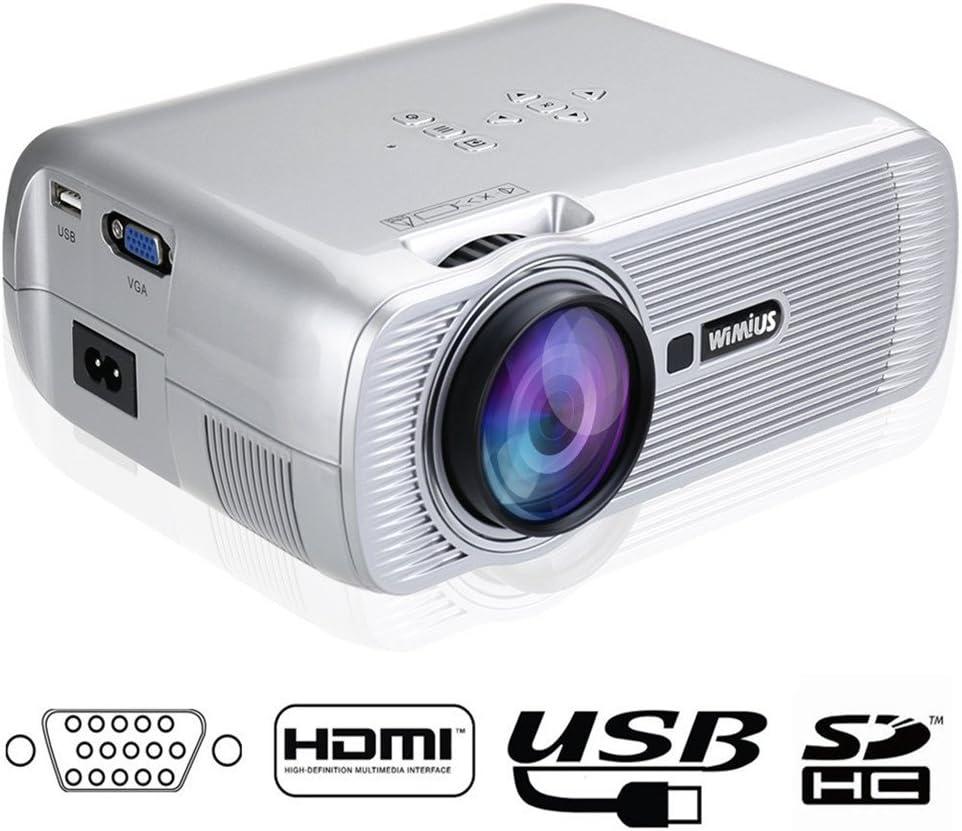 Proyectores HD, Proyector Portátil Videoproyector LED 800*480 ...