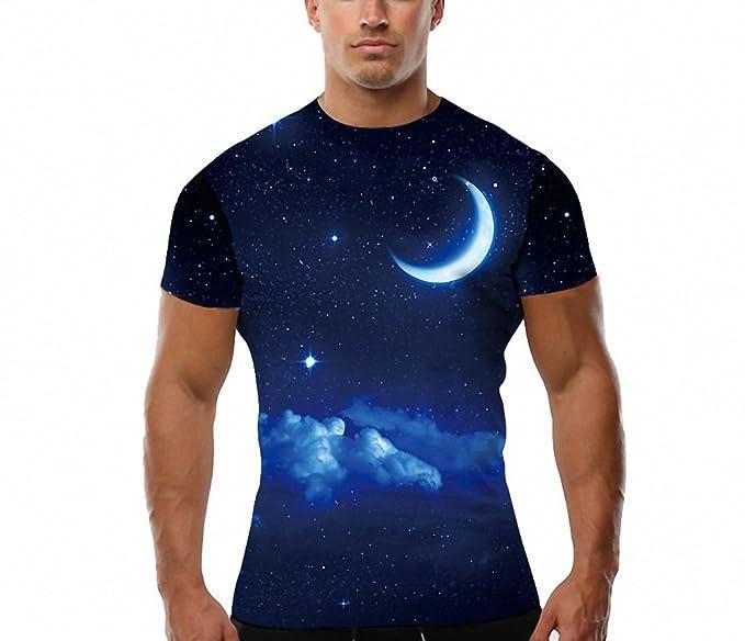 T-shirt noche camisetas Camiseta Manga corta nube azul cielo Tshirt hombres 3d Camiseta Rock Camisetas Divertidas Tee Tops camiseta 3d 4XL: Amazon.es: Ropa ...