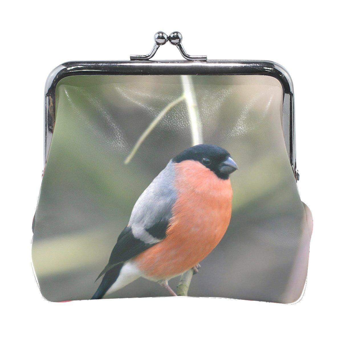 Women Animal Brid Bullfinch Colorful Print Wallet Exquisite Clasp Coin Purse Girls Clutch Handbag