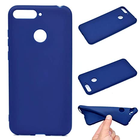OUJD Funda Huawei Honor 7C, Carcasa Huawei Y7 2018 Silicona Gel, Mate Case Ultra Delgado TPU Goma Flexible Cover para Huawei Honor 7C / Y7 2018 / Y7 ...