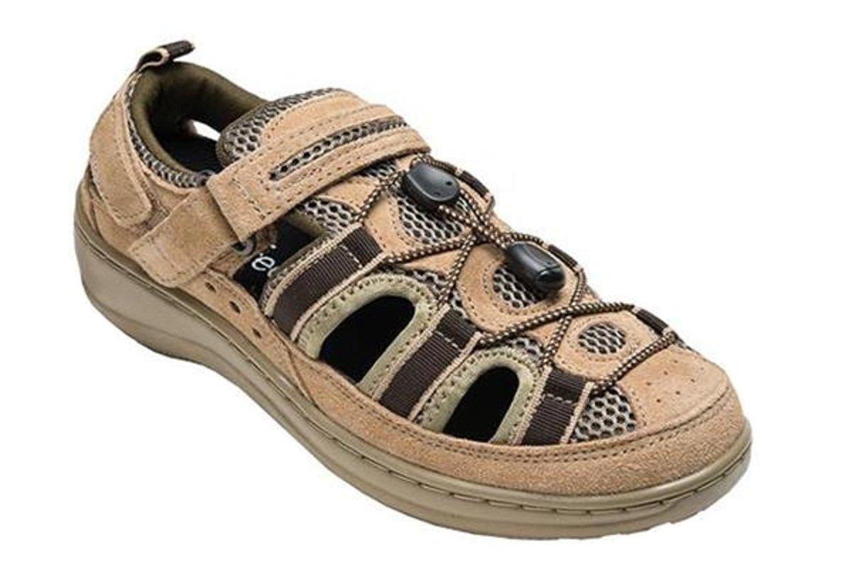 Orthofeet 873 Women's Comfort Diabetic Extra Depth Sandal ShoeTan 8 Medium (C) Velcro