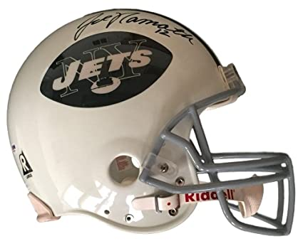16ae65ea6cd Image Unavailable. Image not available for. Color  Joe Namath Signed  Autographed New York Jets Full Size Proline Football ...
