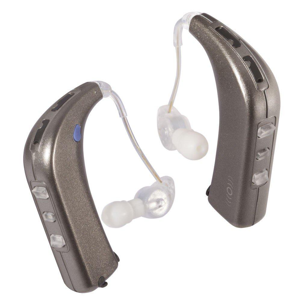 Sound World Solutions - Sidekick - Bluetooth Wireless Personal Sound Amplifier (Two Ear Bundle, White Gold Metallic)