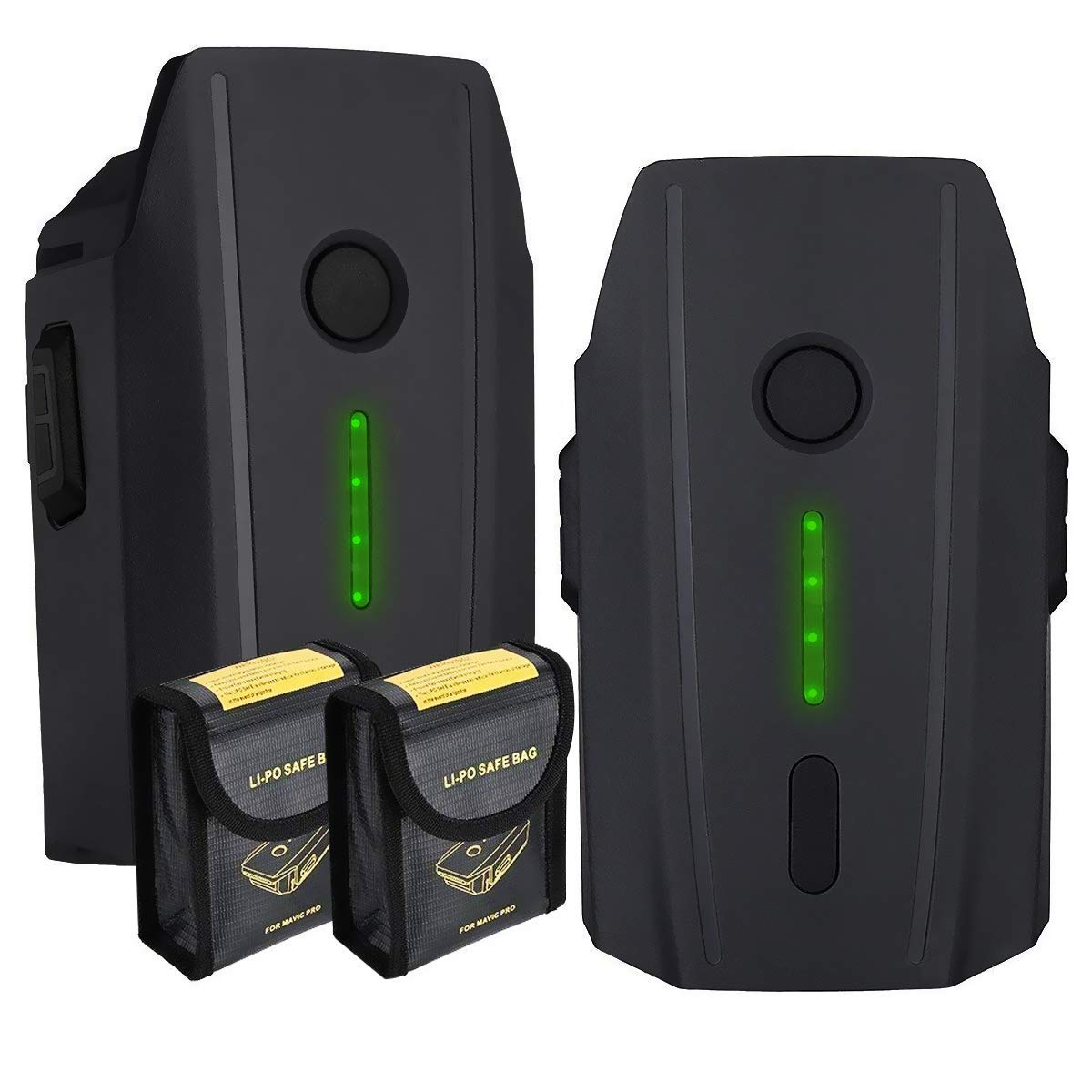 E-TS 2個パック バッテリー 交換用 DJI Mavic Pro バッテリー + 防爆 収納 バッテリーバッグ DJI Mavic Pro プラチナ&アルパインホワイトドローンに対応   B07GJJP4Y4