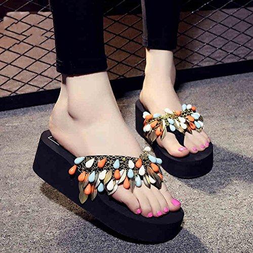 5cm 1001 plage antidérapantes EU35 forme de UK3 et Chaussons cool 1002 taille femmes Chaussures CN34 pour simples Pour en chaussures chaussures simples d'été femmes HAIZHEN 5 Couleur XPqZ1gnwaq