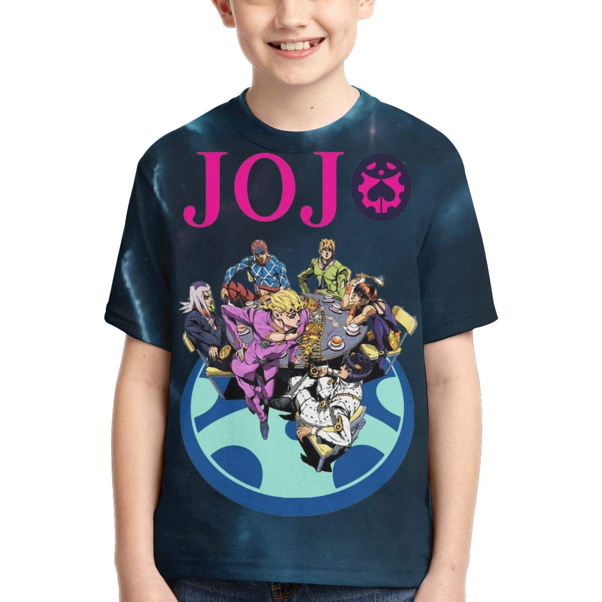 Zengqinglove Boys,Girls,Youth JoJos Bizarre Adventure Tshirts
