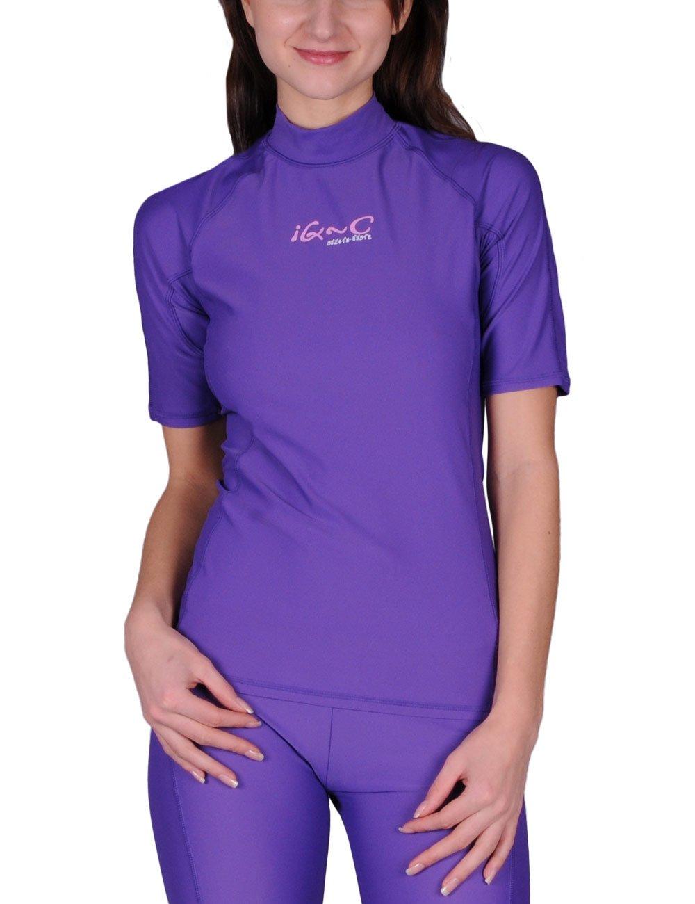 Camiseta para Mujer Color Morado iQ-Company UV 300 Shirt Slim Fit