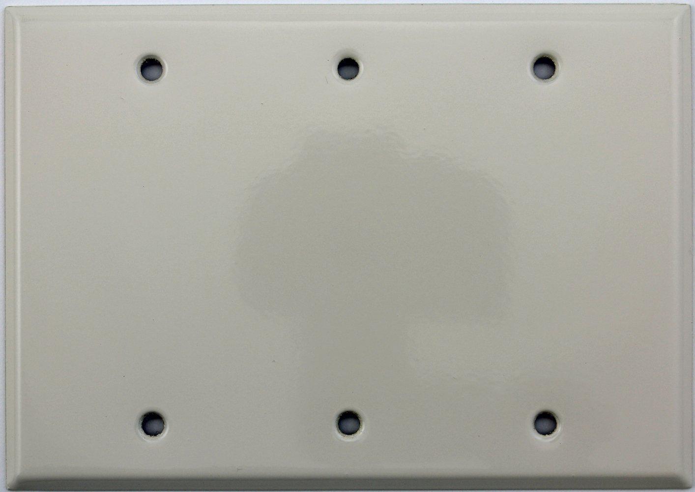 Light Almond Three Gang Blank Switch Plate - - Amazon.com