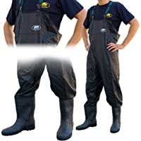 acc8aed917a Lineaeffe Black All Weather PVC Waterproof Carp Coarse Fishing Chest Waders Wellies  in Sizes 6