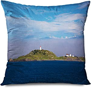 TETUDA Throw Pillow Cover Square 20x20 Inches Awaresome House Trinity Newfoundland Canada Lighthot Also July 22 Harbour Known Point Design X27 Decorative Cushion Case Home Decor Zippered Pillowcase