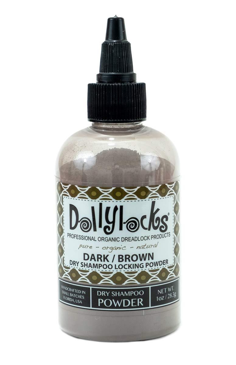 Dollylocks 1oz Dark/Brown Dreadlock Dry Shampoo Locking Powder