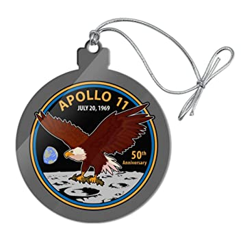 NASA Apollo 11 50th Anniversary Patch with Eagle on The Moon Garden Yard Flag