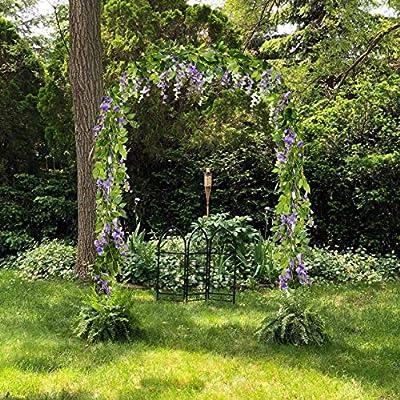 Ashine Guirnalda de flores artificiales de glicinia, flores artificiales de seda para colgar en el hogar, jardín, ceremonia al aire libre, boda, arco, decoración floral (20 ramas de flores) 2 unidades: Amazon.es: