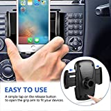 Amoner 3-In-1 Cigarette Lighter Car Mount, Car Mount Charger Holder Cradle with Dual USB 2.1A Charger for iPhone X 8 8 Plus 7 7 Plus 6s 6s Plug Samsung Galaxy S9 Note 8 S8 S8 Plus S7 E