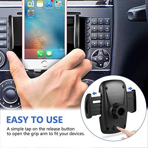 Amoner 3-In-1 Cigarette Lighter Car Mount, Car Mount Charger Holder Cradle with Dual USB 2.1A Charger for iPhone X 8 8 Plus 7 7 Plus 6s 6s Plug Samsung Galaxy S9 Note 8 S8 S8 Plus S7 E by Amoner