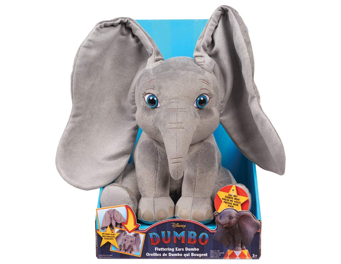 Dumbo Live Action Flapping Ear Feature Plush, Multi-color (53326)