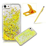 For iPhone 6S Plus Case,Herzzer Luxury Back Cover for iPhone 6 Plus,Creative Dynamic Love Heart Glitter Quicksand Sparkle Running Flowing Liquid Floating Bling Shiny Transparent Case