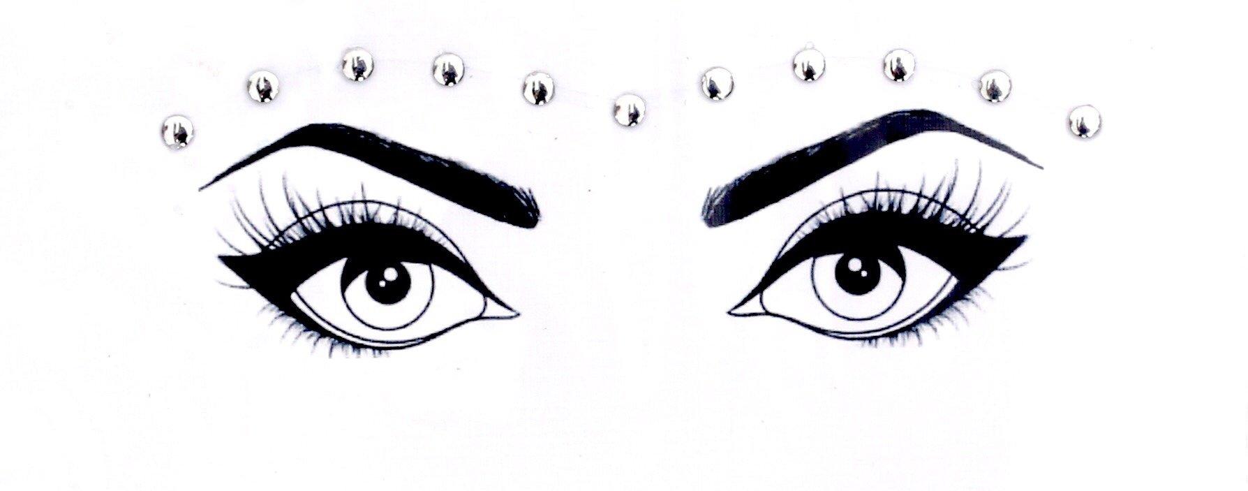 Body Bauble - Luna Face Jewels (Silver)