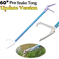 """Ouronehome 60"""" Professional All-Aluminum Alloy Snake Tong Reptile Grabber Rattle Snake Catcher Wide Jaw Handling Tool with Lock and Comfortable Grip Handle"""