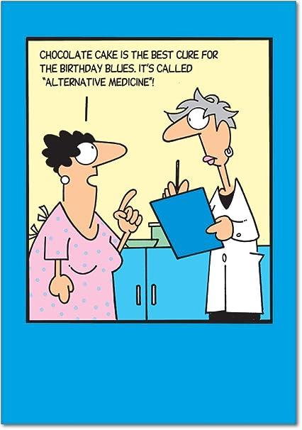 Amazon 6019 Alternative Medicine Unique Funny Birthday Card