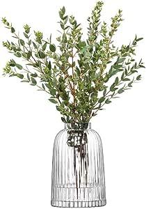 LSA INTERNATIONAL LSA10090 Pleat Clear Vase, Clear