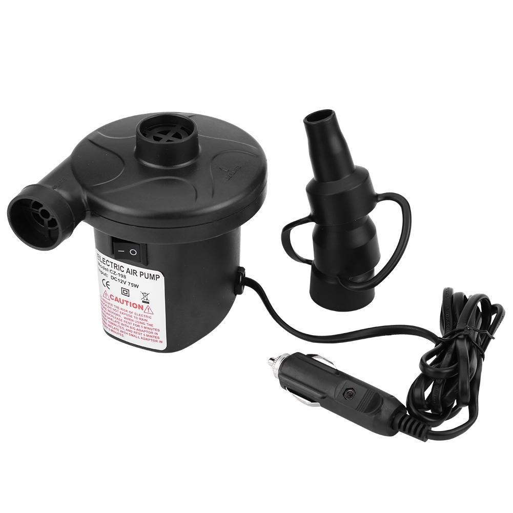 Walfront Auto Car 12V Electric Air Pump Inflator Deflator for Boat Bed Mattress