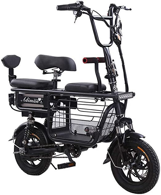 YOUSR Bicicleta Eléctrica Plegable, Bicicleta Eléctrica Portátil ...