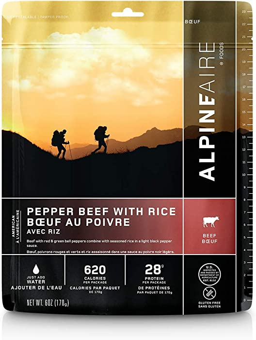 Alpine Pepper Beef with Rice Meal