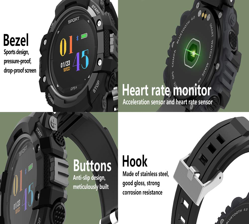 Amazon.com: Color Screen Smart Bracelet - Heart Rate ...