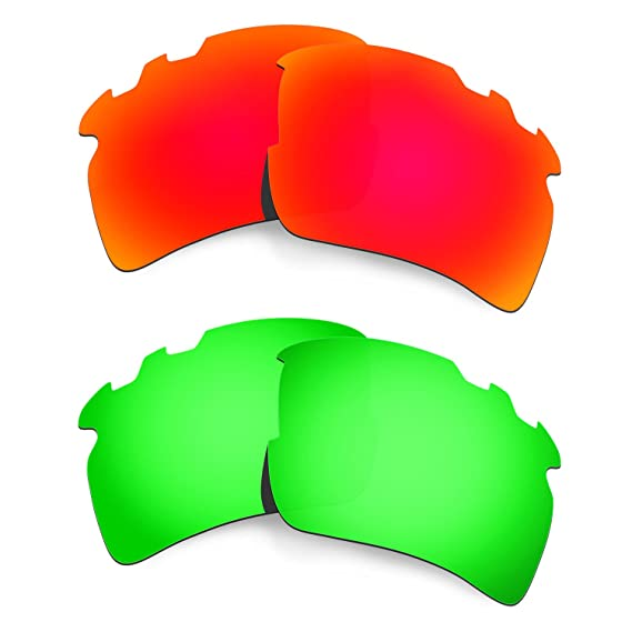 8e022e5d849 Hkuco Plus Mens Replacement Lenses For Oakley Flak 2.0 XL-Vented  Red Emerald Green Sunglasses  Amazon.in  Clothing   Accessories