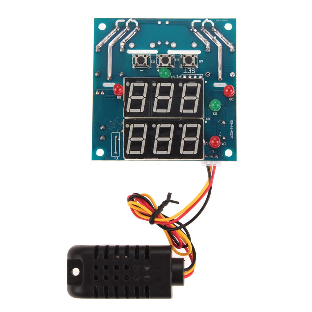 MIMI New AC/DC 12V Intelligent Temperature Humidity Controller Relay Thermostat Capacitive Temperature and Humidity Controller Board NEW by MIMI (Image #1)