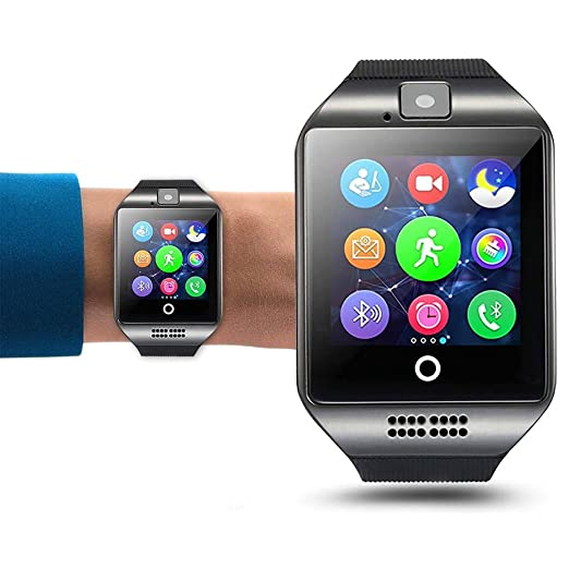 Amazon.com: Q18 Smart Wrist Watch Bluetooth Smartwatch Phone ...