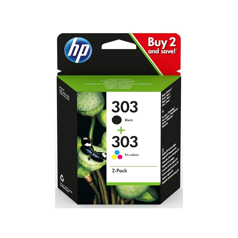 HP 303 - Lote de cartuchos originales en negro y en color para ...