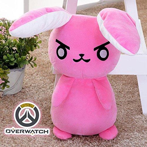 Shalleen Overwatch OW DVA D.VA Rabbit Plush Doll Soft Toy Stuffed Cute Cosplay Prop Pink