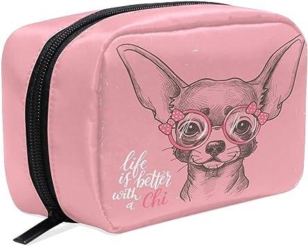 Chihuahua Travel Makeup Bag