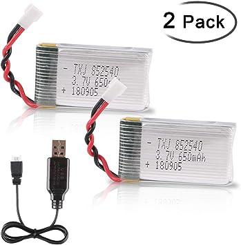 2 Stück USB 3,7V Lipo Akku Ladegerät JST Stecker für RC FPV Drhone Lipo Batterie