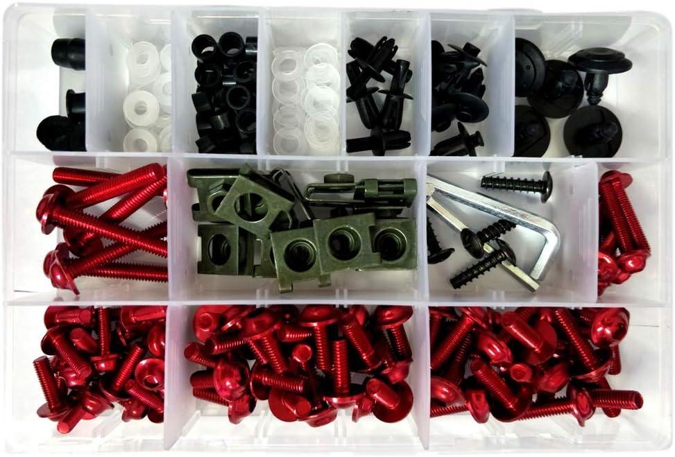 Verkleidungsschrauben-Set Universal-Schrauben-Set tragbare Verkleidung schwarz Motorradzubeh/ör bunt Ersatzverkleidungsbolzen