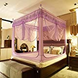XRXY Mosquito Net Creative Lace Edge Household Mosquito Net/Children Safety Mosquito Net/Zipper Encryption Thicken Mosquito Net (5 Colors Available) (Color : A, Size : 1.2M)