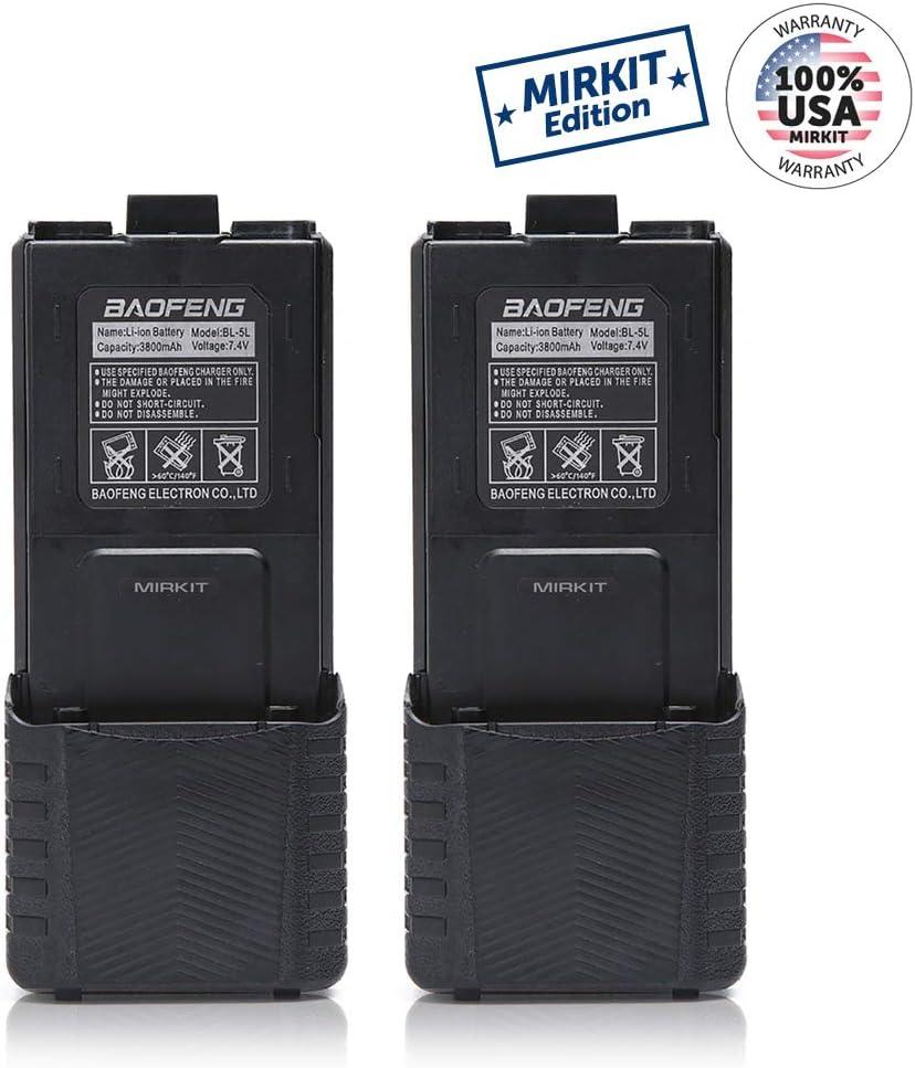 Baofeng - Batería de Repuesto para Walkie Talkies UV5 BF-F8HP UV-5R UV5R Plus UV-5RTP BF-F8 BF-F8+ (7,4 V, 3800 mAh): Amazon.es: Electrónica