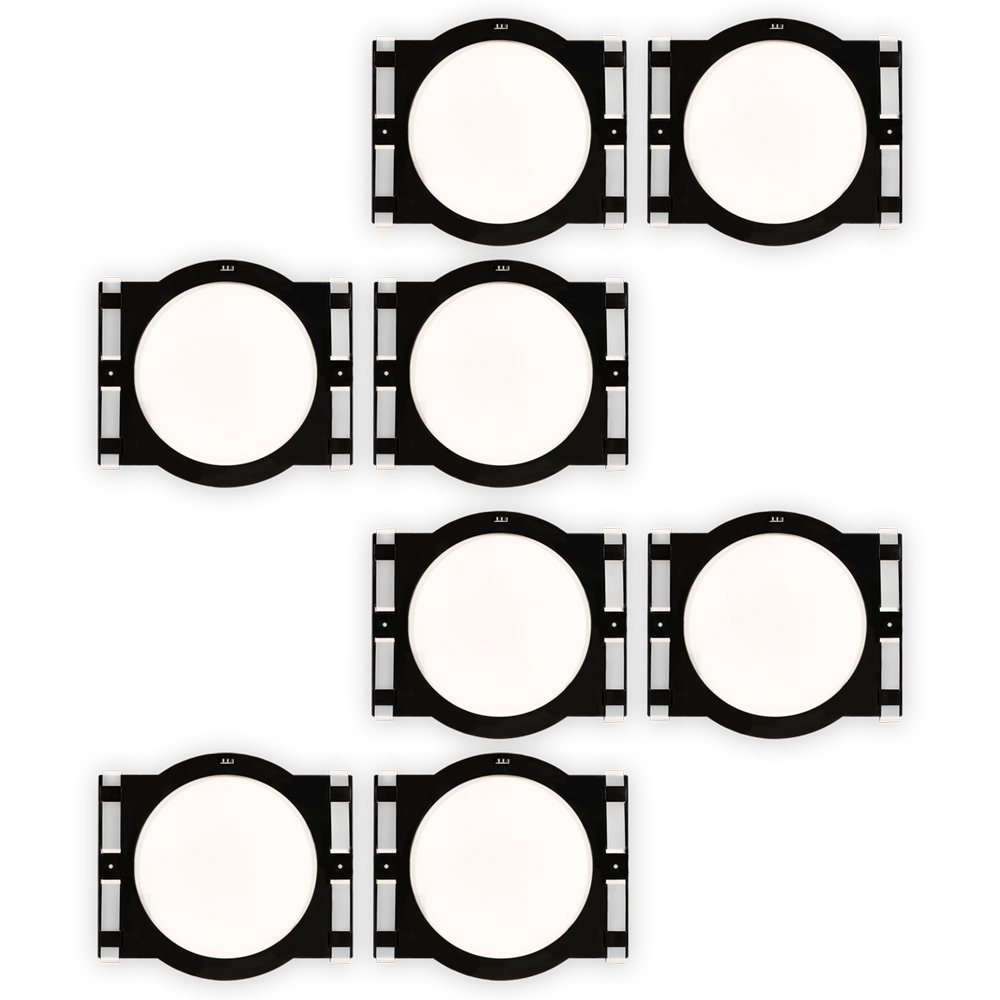 Theater Solutions RK6C In Ceiling Installation Rough In Kit for 6.5'' Speakers 4 Pair Pack by Theater Solutions