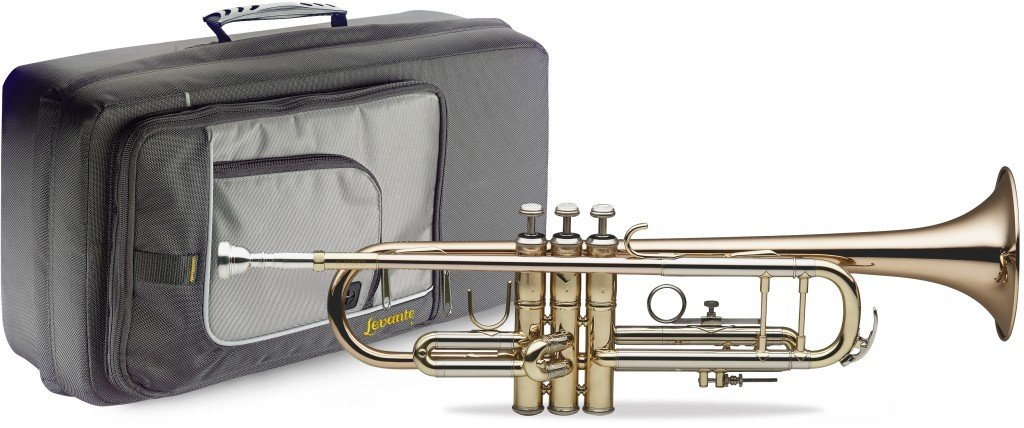 Levante LV-TR6305 Bb Professional Trumpet with Soft Case - Lacquered Body