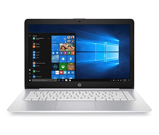 "HP Stream 14-ds0000ns - Ordenador portátil de 14"" HD (AMD A4-9120e, 4GB RAM, 64GB eMMC, AMD Graphics, Windows 10), Color Blanco - Teclado QWERTY Español"