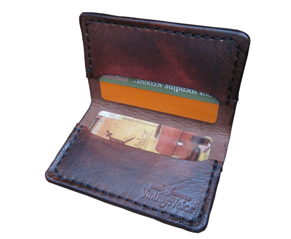 Vintage Valor Leather Goods: Quality Handmade 1865 BI-FOLD CARD Wallet