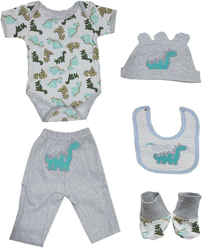 Cartoon Owl Romper Pants Bib Socks Set Fit 22/'/'-23/'/' Reborn Baby Girl Doll